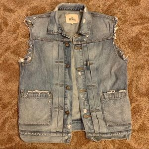 Levi's Made and Crafted Distressed Denim Vest